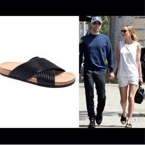 NIB Loeffler Randall Leather Cork Sandal Petra 8